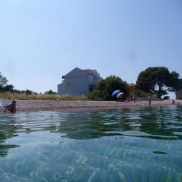 Widok z wody na naszą hacjendę